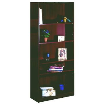 Nexera Wall Street Series 5-Shelf Bookcase (Mahogany) 254