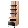 Nexera Eclipse Series Storage Tower (Biscotti and Black) 451306