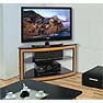 Bello 44 inch Wide Versatile Wood Tone Corner-Fit Audio Video Furniture System AVSC-2121