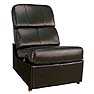 Bello Home Theater Seating Recliner With No Arms Black or Brown Leather HTS103