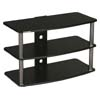 Plateau SF Series 3 Shelf 31 inch Wide Audio Video Rack / TV Stand (Black) SF-3V(32)