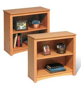 Prepac Sonoma Collection 2-Shelf Bookcase (Maple or Oak) DL-3229