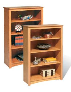 Prepac Sonoma Collection 4-Shelf Bookcase (Maple or Oak) DL-3248