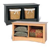 Prepac Sonoma Collection Twin Cubbie Bench (Black or Maple) SC-3620