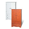 Prepac Monterey Collection 2-Drawer 2-Door Armoire (Cherry or White) C-3359