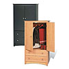 Prepac Sonoma Collection 2-Drawer 2-Door Armoire (Black or Maple) DC-3359