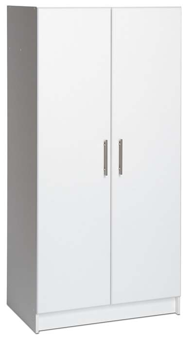 View a larger image of the Prepac Elite Collection Wardrobe Cabinet for Garage or Laundry Room (White) WEW-3264.