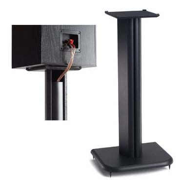 Sanus Basic Foundation Series 24 in. Wood Speaker Stands BF24B (Black Ash)