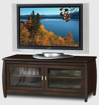 Tech Craft Veneto Series 48 inch TV Stand / Credenza (Walnut) SWP48
