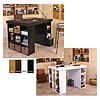 Venture Horizon Project Center Table with One Bookcase and One 3-Bin Cabinet Side (Various Finishes) 1151