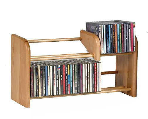 Wood Technology Combination CD/Video Rack CDR88
