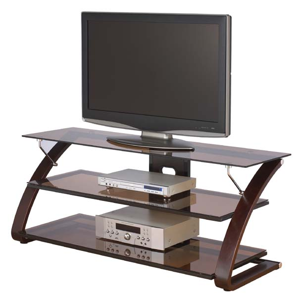 Z Line Designs Keira 3 Shelf Mocha Glass Tv Stand For 32