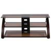 "Z-Line Designs Keira 55"" Flat Panel TV Stand with Glass Shelves (Mocha) ZL568-55SU"