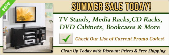 Electric Fireplaces, Flat Screen TV Stands, CD Racks and DVD Cabinets on Sale