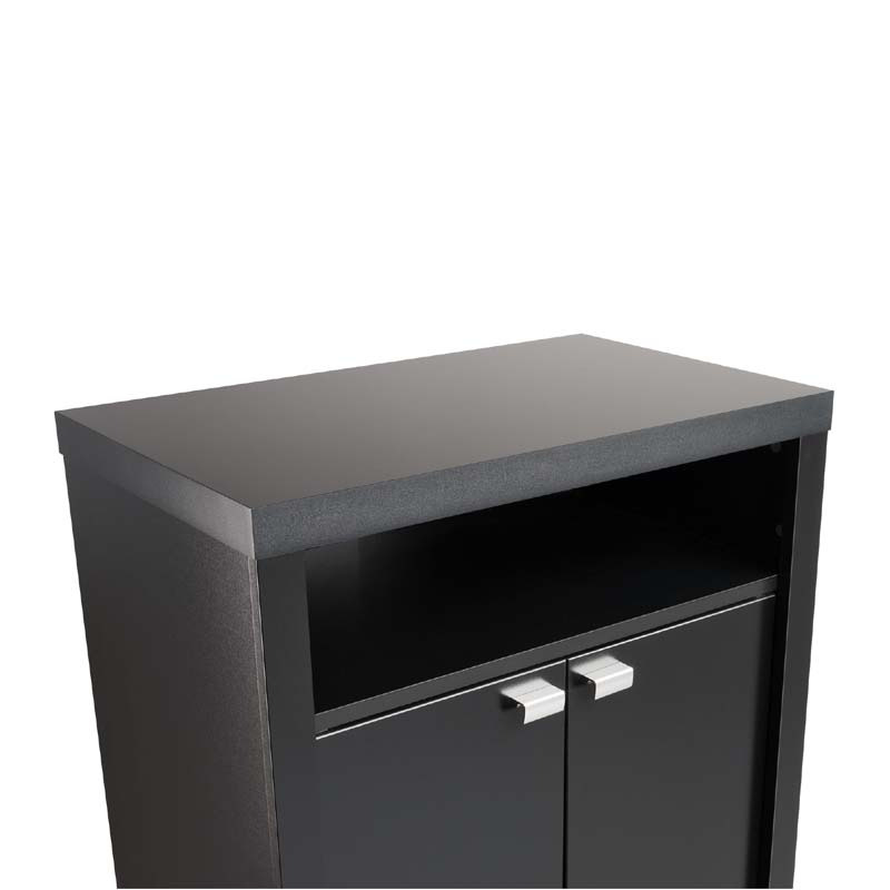 Prepac Series 9 Designer 2 Door Tall Night Stand Black