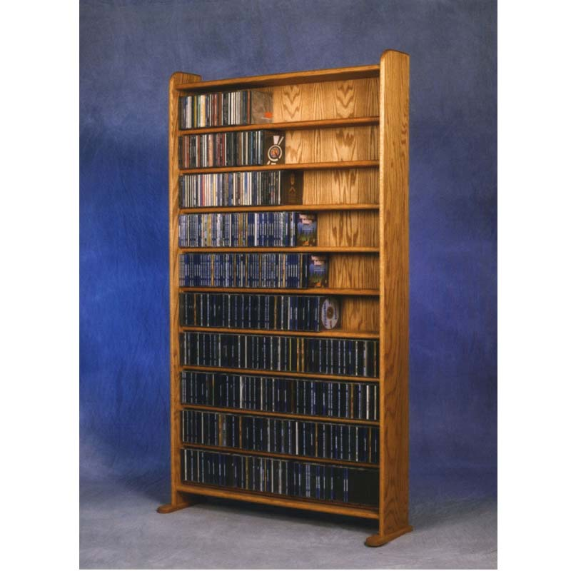 Wood shed solid oak cabinet cd rack various finishes tws