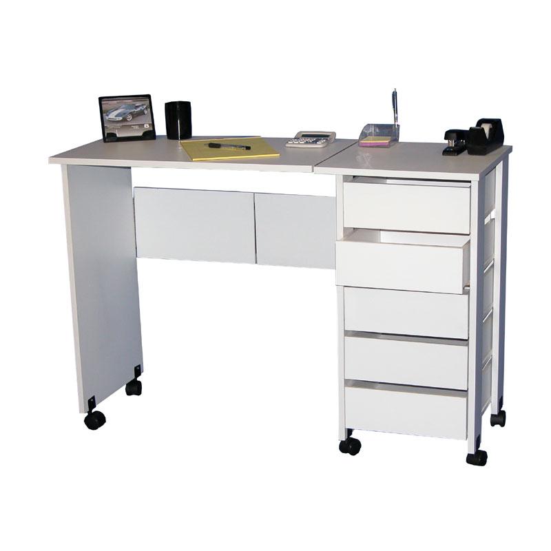 Venture Horizon Fold Down Mobile Craft Center (White Or Oak) 1010