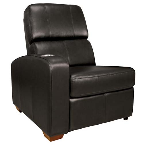 theater seating left side arm recliner black or brown leather hts101