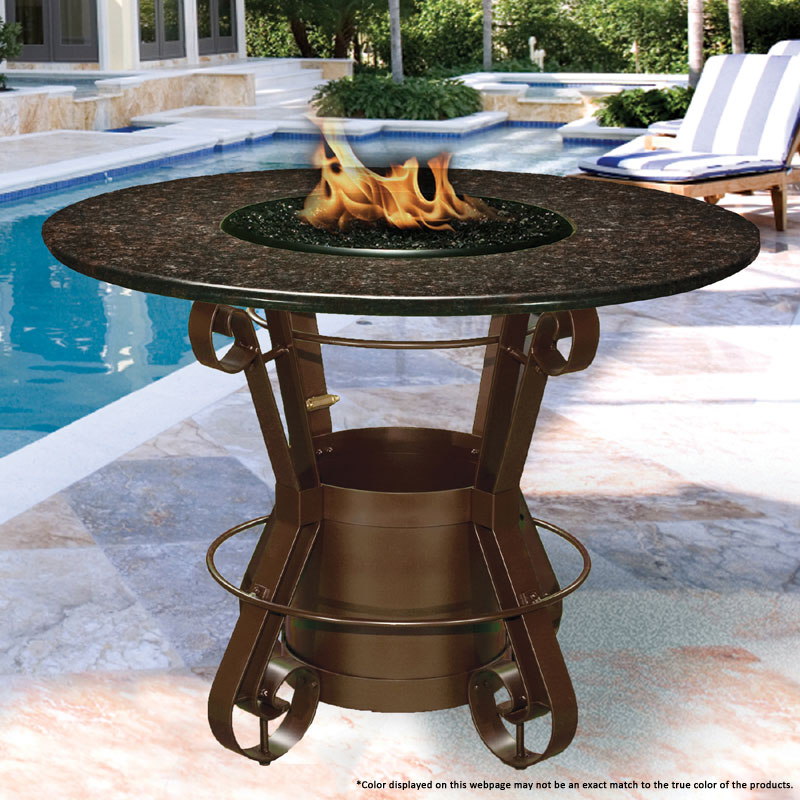 Fire Pit - Brown Solano Bar Height & 42 inch Black ...