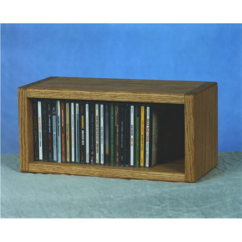 Wood shed solid oak wall mount cd rack 103 1 for Cd mural wall display