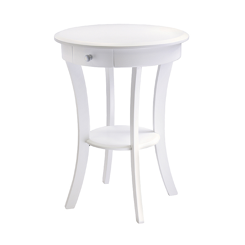 White Side Table : ... image of the Winsome Sasha Accent Table with Drawer (White) 10727