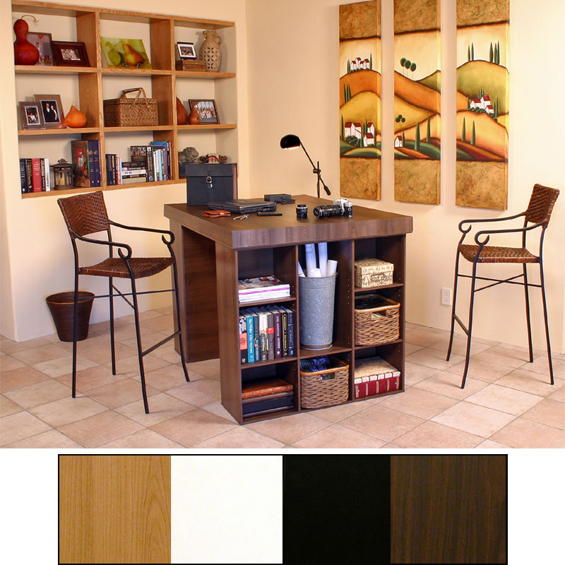 View A Larger Image Of The Venture Horizon Project Center Table With  Bookcase Sides (Various