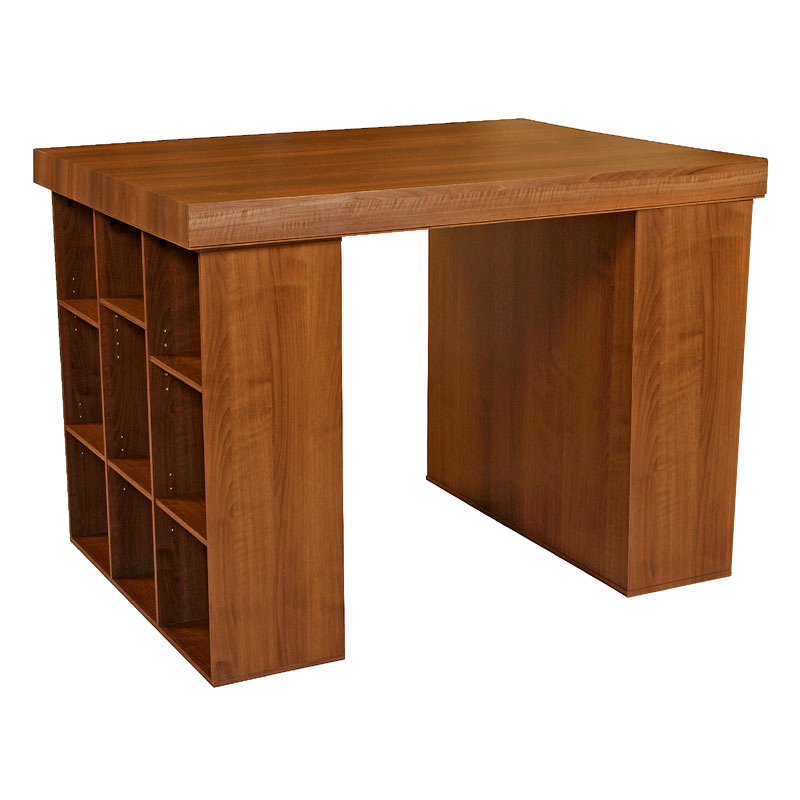 Table With Bookcase: Venture Horizon Project Center Table With Bookcase Sides
