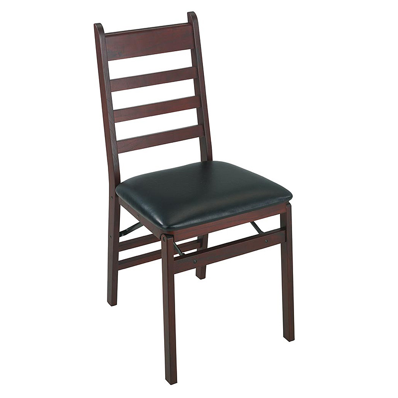 Cosco Set of 2 Woodcrest Folding Chairs With Vinyl Seating Sold in Pairs 3727