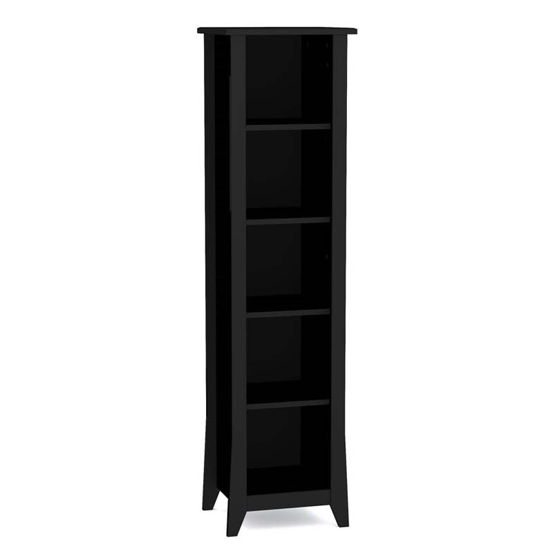 Nexera Tuxedo Collection 60 In. Slim Bookcase Black 200206
