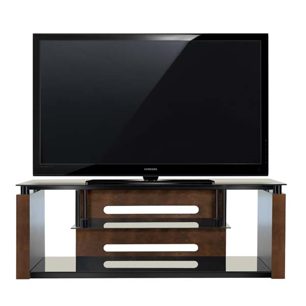 Bello Black Glass And Solid Wood 65 Inch Audio Video Furniture System Espresso Avsc2155
