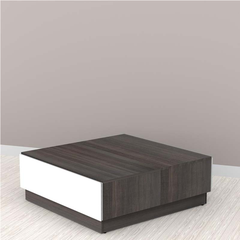 Nexera allure collection coffee table with storage white for Allure coffee table