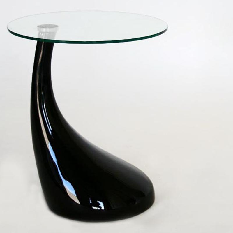 Wholesale Interiors Plastic Round Coffee Table Black 2309 Black