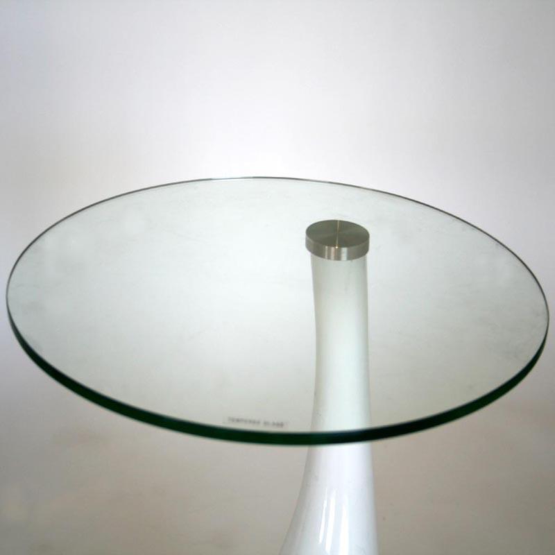 Wholesale Interiors Plastic Round Coffee Table White 2309