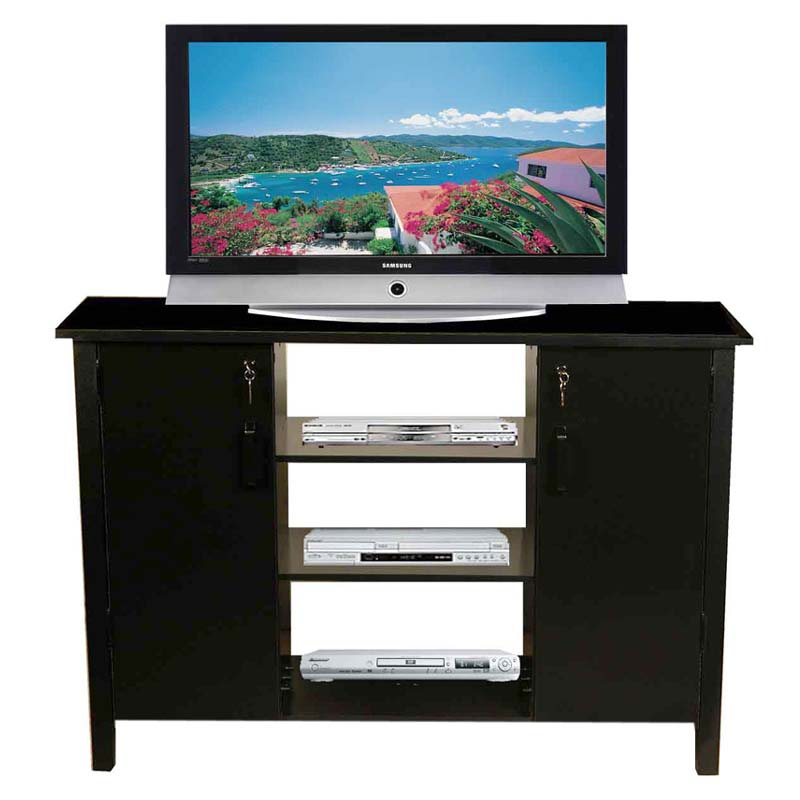 Venture horizon deluxe 42 tv stand with media storage for Media and tv storage furniture