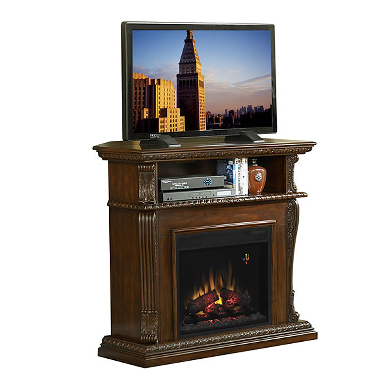 Classic Flame Corinth Collection 42 Wide Advantage Wall Corner Electric Fireplace Vintage Cherry
