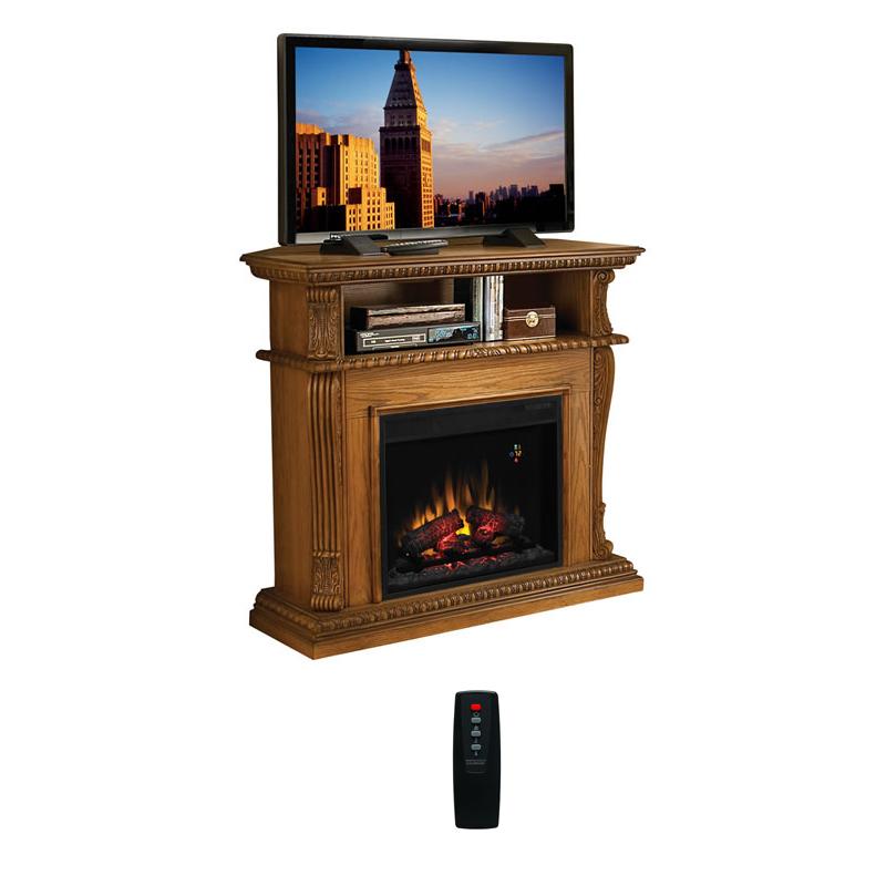 Classic Flame Corinth Collection 42 Wide Advantage Wall Corner Electric Fireplace Premium Oak