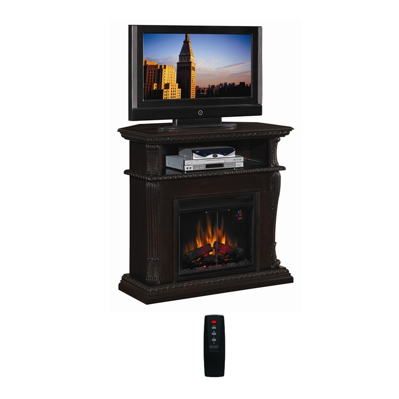 Classic Flame Corinth Collection 42 Wide Advantage Wall Corner Electric Fireplace Roasted Walnut