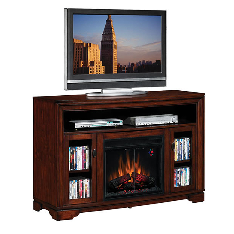 Classic Flame Palisades Collection 56 Wide Media Mantel Electric Fireplace Empire Cherry 23mm070