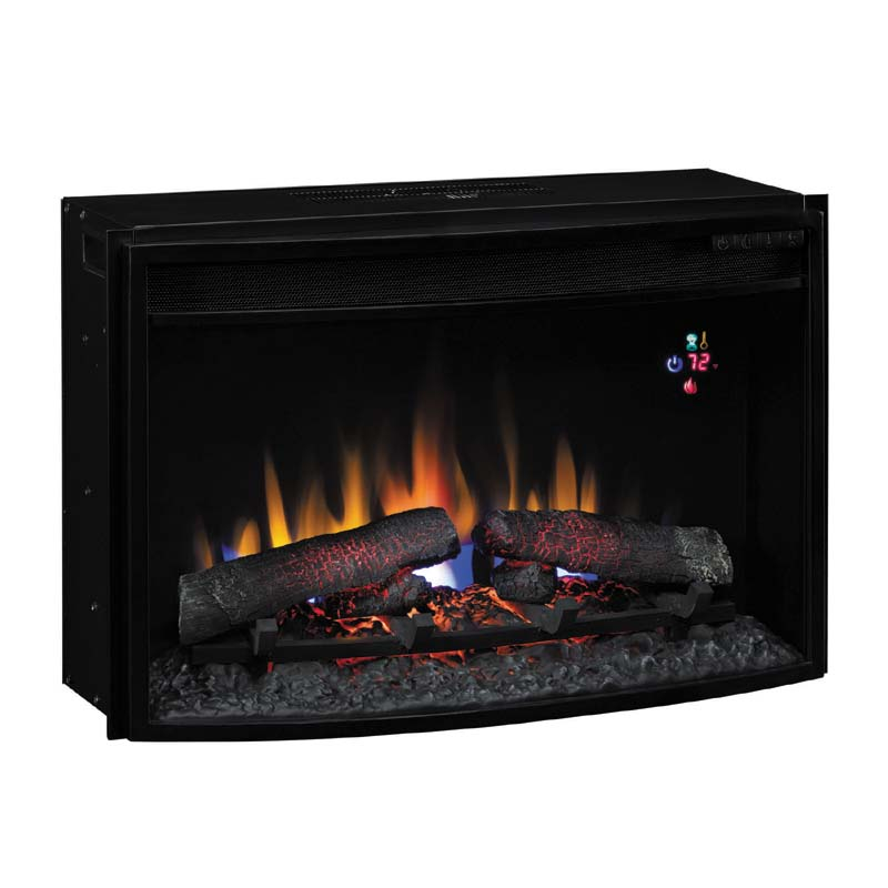 Classic Flame Curved Front 25 inch Electric Fireplace ...