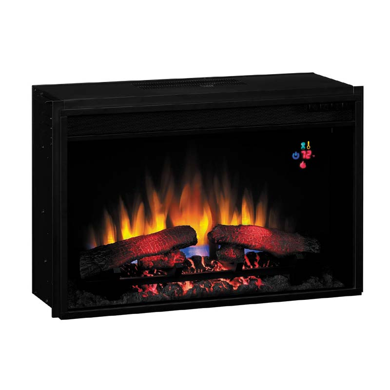 Classic Flame Fixed Front 26 Inch Electric Fireplace Insert With Remote Black 26ef023gra