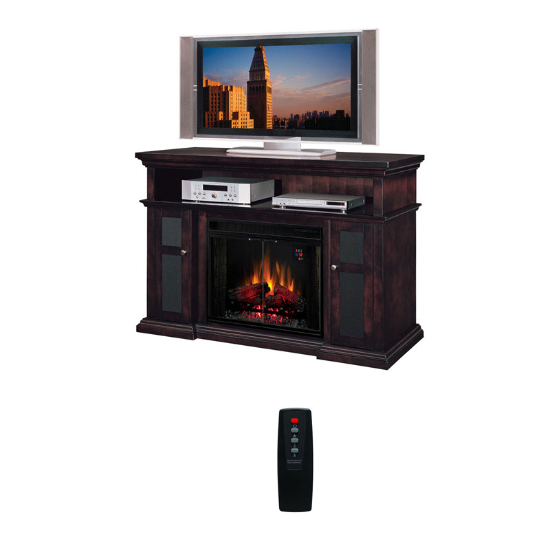 Classic Flame Pasadena Collection 60 Wide Media Mantel Electric Fireplace Espresso 28mm468 E721