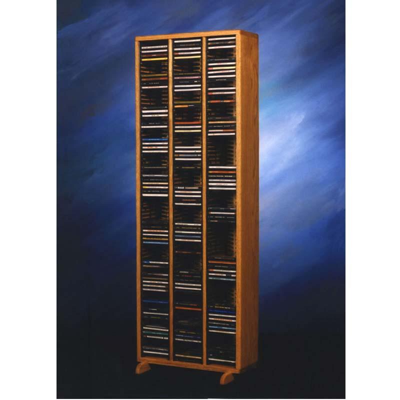 Wood Shed Solid Oak Cd Rack Tws 309 4