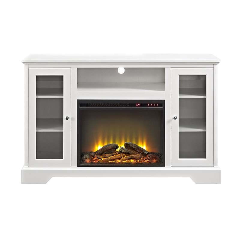 Walker Edison Highboy Tv Stand With Electric Fireplace