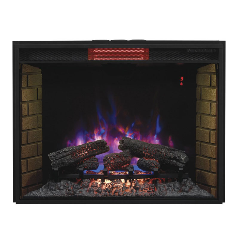 Classic Flame 33ii310gra 33 Inch Electric Infrared Fireplace Insert With Safe Plug