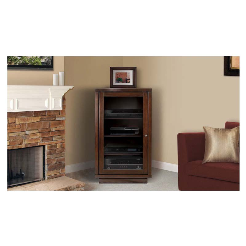 Exceptional Bello No Tools Assembly Wood Audio Video Cabinet (Dark Espresso) ATC402