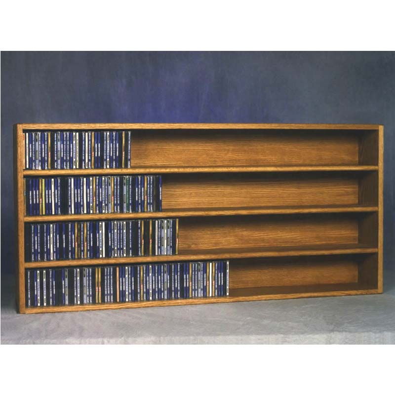 Wood Shed Solid Oak Wall Mount Cd Racks Tws 403 4
