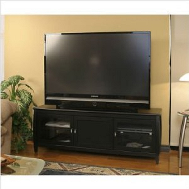Tech Craft Veneto Series Rounded Wood Tv Stand For 48 60