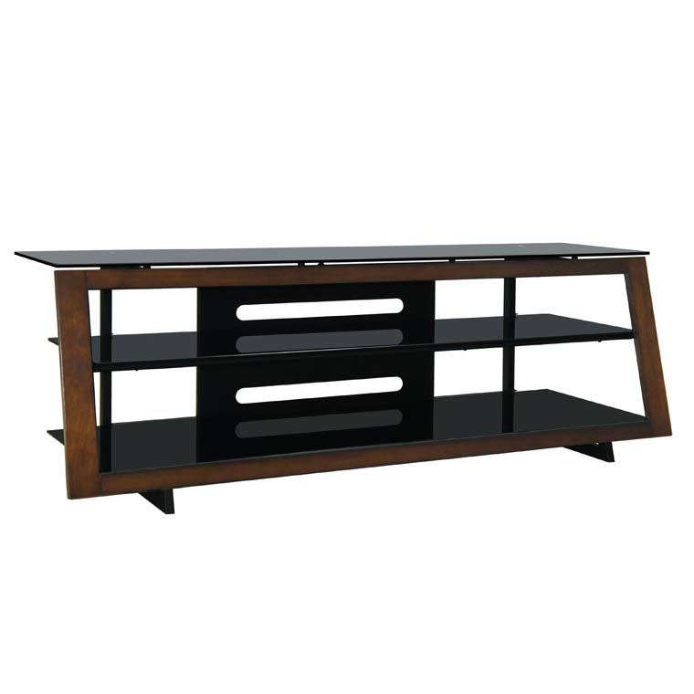 Bello Modern Wood And Tinted Glass 65 Inch Tv Stand Medium
