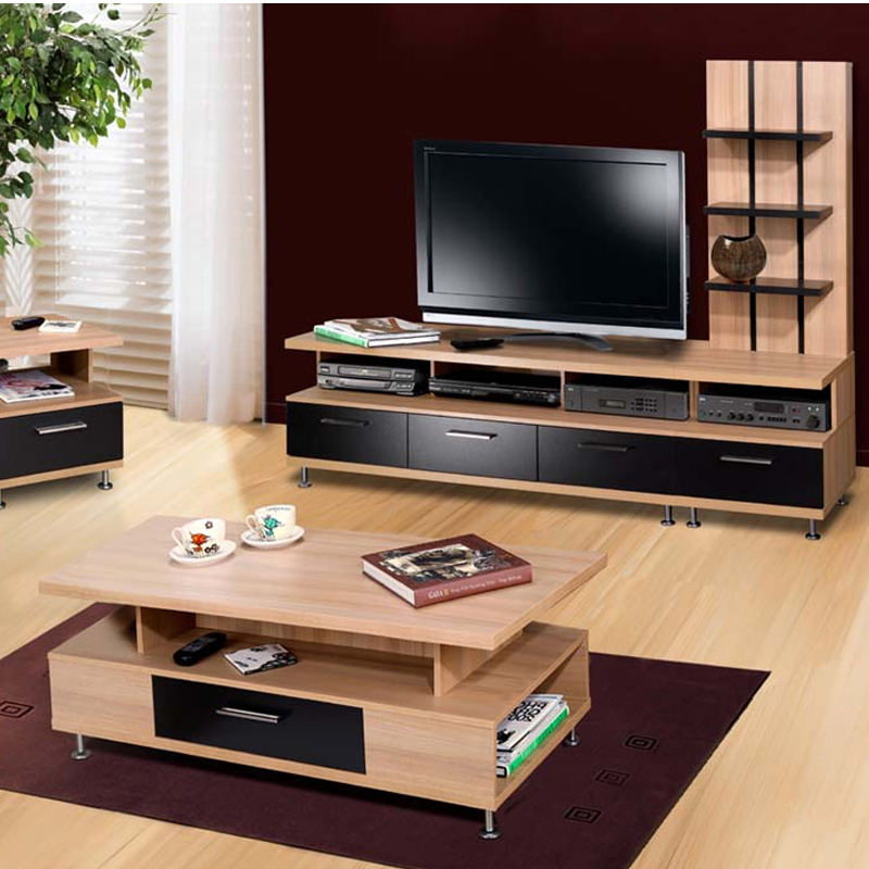 Eclipse Series 57 in. Flat Screen TV Stand (Biscotti and Black) 451304