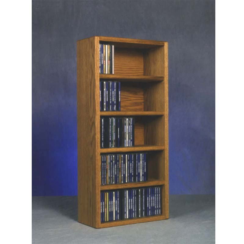 Wood Shed Solid Oak Wall Mount Cd Racks Tws 503 1